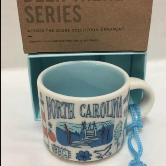 Starbucks 2oz Demi Tasse NORTH CAROLINA BEEN THERE mug Ornament Cup Mini Mug